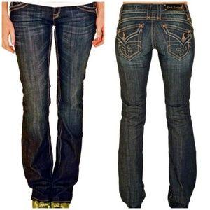 Rock Revival Gwen Boot Cut Dark Jeans Size 26